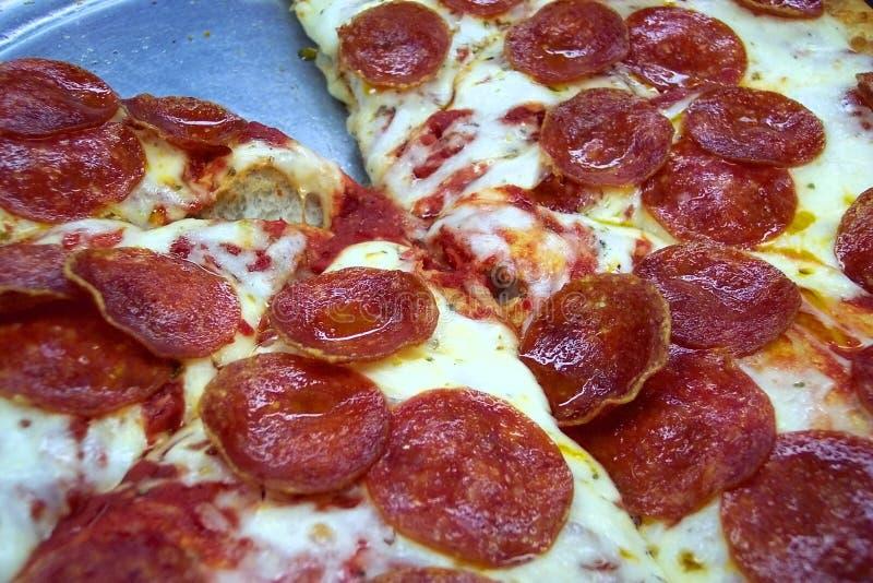 La pizza de l'amoureux de pepperoni photos stock
