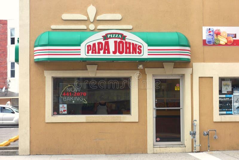La pizza di Papa John immagini stock