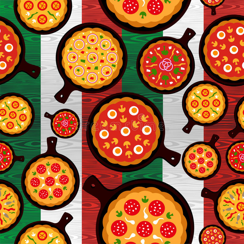 La pizza italiana condice il reticolo illustrazione vettoriale