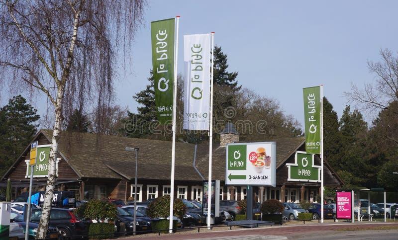 La-Plaatsrestaurant in Nederland stock foto
