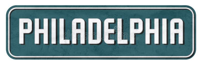 La placa de calle de Philadelphia en Eagles colorea el NFL imágenes de archivo libres de regalías