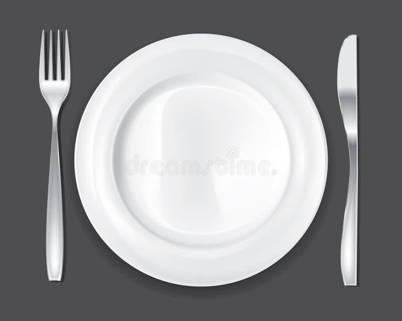 La placa de cena fijó 1 libre illustration