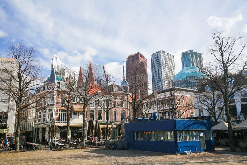La place à la Haye, Pays-Bas photographie stock libre de droits