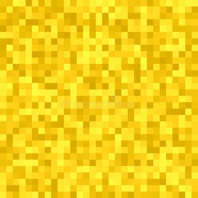 La place abstraite de pixel a couvert de tuiles le fond de mosaïque - conception géométrique de vecteur des places colorées d'or illustration libre de droits