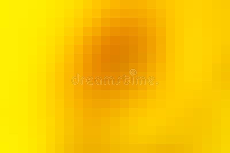 La place d'or lumineuse de mosaïque jaune couvre de tuiles le fond illustration libre de droits