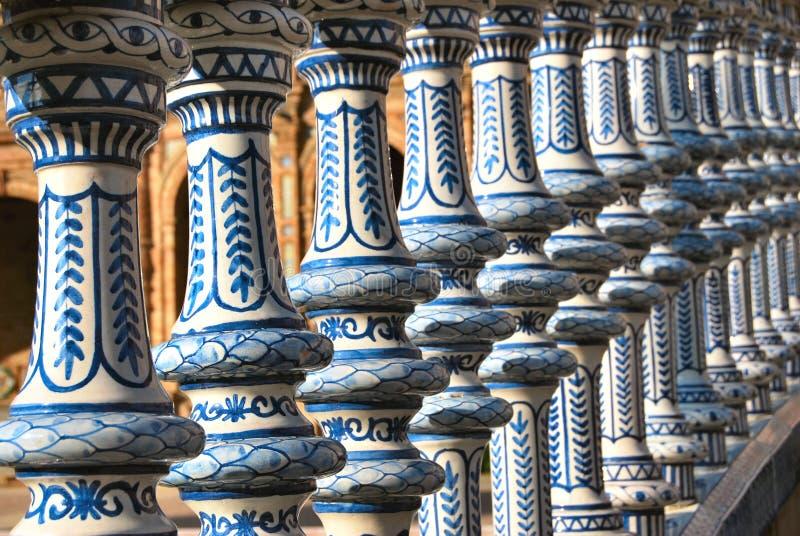 La place de l'Espagne en Séville photographie stock