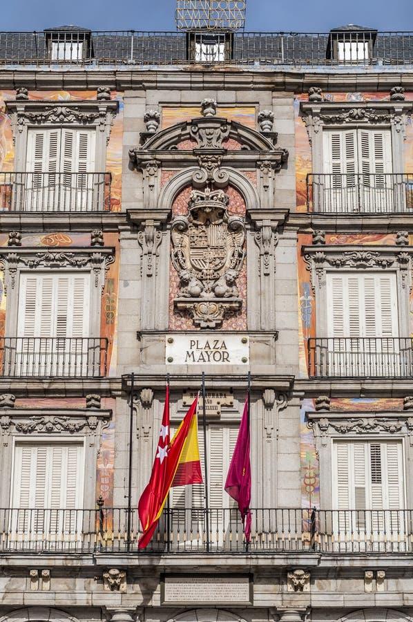 La place de maire de plaza à Madrid, Espagne. image stock