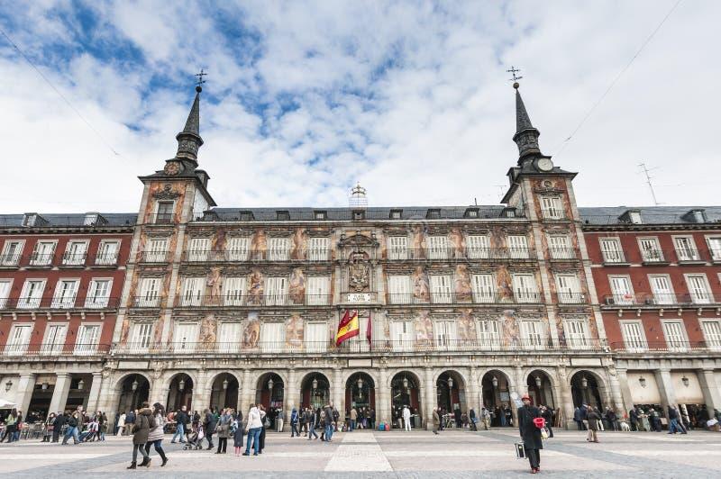 La place de maire de plaza à Madrid, Espagne photographie stock