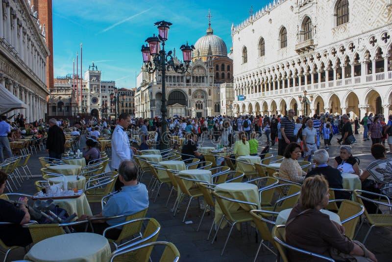 La place de St Mark Venise Italie photographie stock