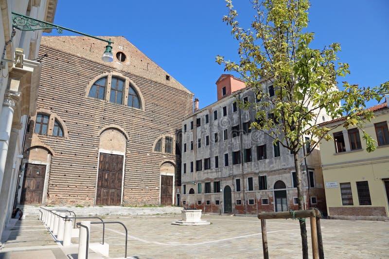 La place de wiide de Venise Italie a appelé le saint Lorenzo de Campo images libres de droits