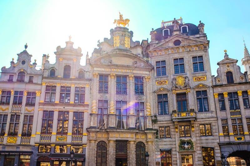 La place grande de palais à Bruxelles images libres de droits