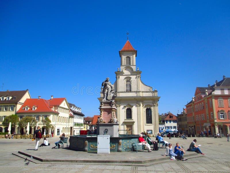 La place principale de Ludwigsburg en Allemagne photographie stock