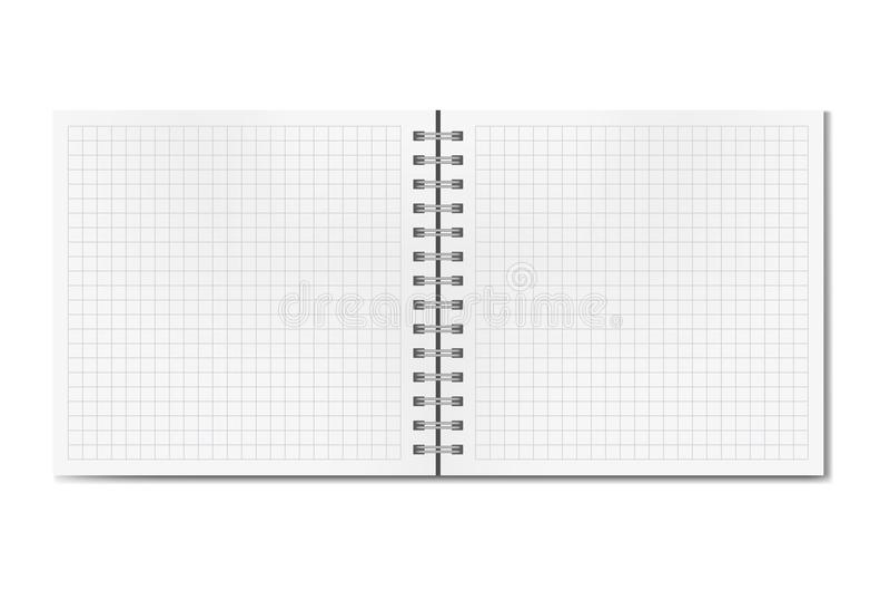 La place réaliste ouverte a ordonné la maquette de carnet à dessins photographie stock libre de droits