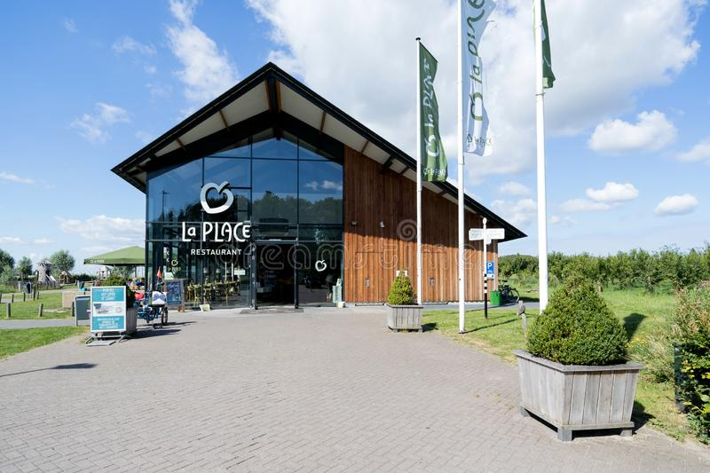 La Place restaurant in Zoeterwoude, The Netherlands. La Place is a Dutch restaurant chain, owned by Jumbo, the second-largest supermarket chain in the royalty free stock photo
