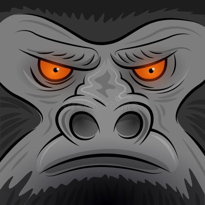 La place s'est posée à Gorilla Ape illustration libre de droits