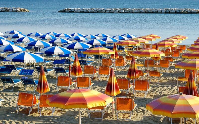 La plage à Gabicce Mare images stock