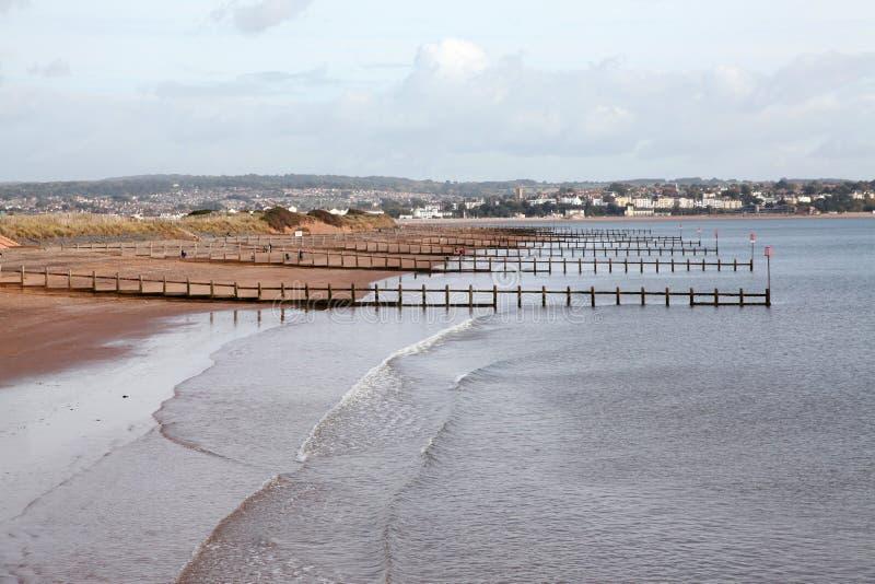 La plage chez Dawlish images libres de droits