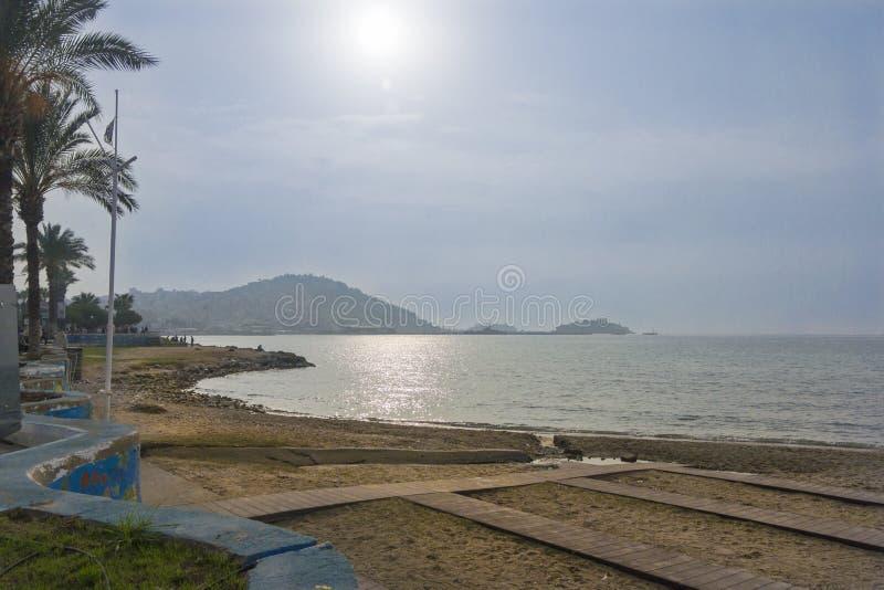 La plage chez Kusadasi, Turquie image libre de droits