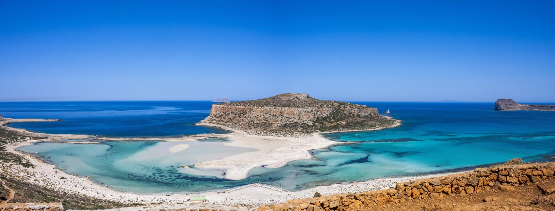 La plage de Balos, Granvoussa, Crète photographie stock