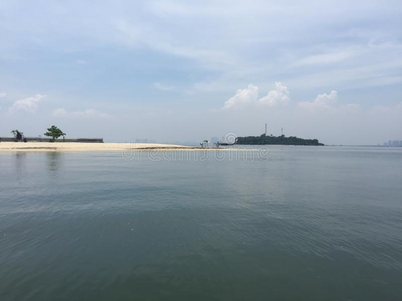 La plage de plage d'île de Kelor photographie stock libre de droits