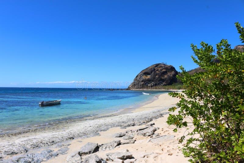 La plage de l'île de Kuata, îles de Yasawa, Fidji photos libres de droits