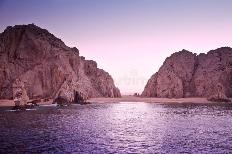 La plage de l'amoureux, Cabo San Lucas, Mexique photos libres de droits