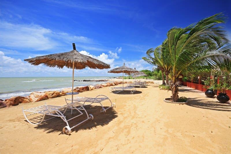 La plage de Saly au Sénégal photos libres de droits