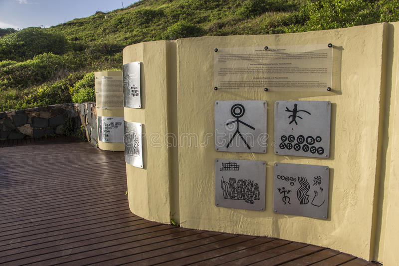 La plage de Santinho - Florianópolis/SC - le Brésil photographie stock