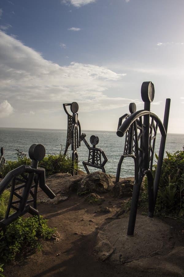 La plage de Santinho - Florianópolis/SC - le Brésil image stock