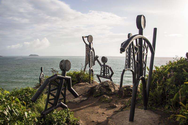 La plage de Santinho - Florianópolis/SC - le Brésil image libre de droits
