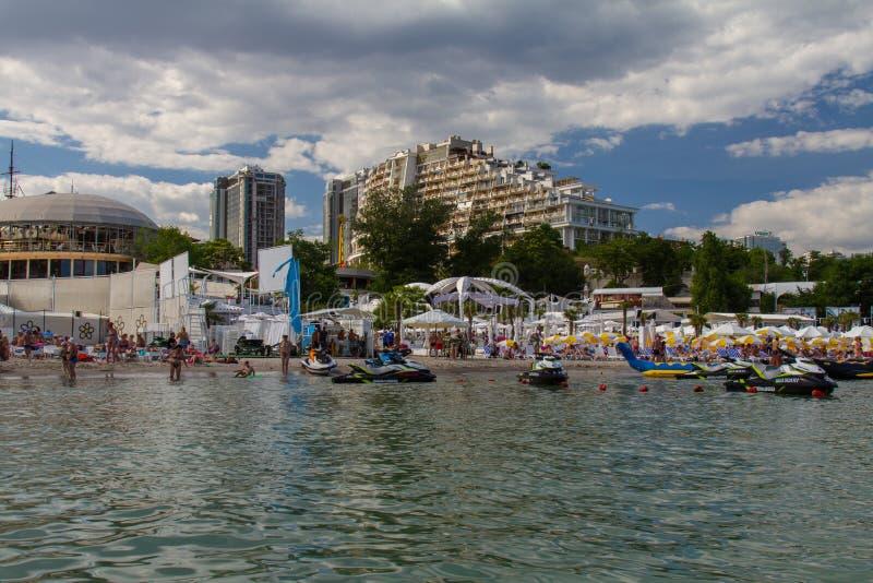 La plage de ville de l'Arcadie photos libres de droits