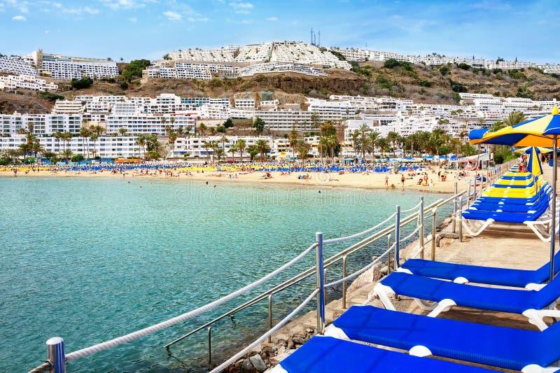 La plage du Porto Rico Gran Canaria Les Îles Canaries images libres de droits