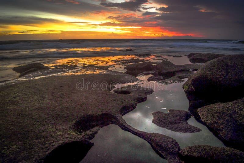 La plage rêveuse photographie stock libre de droits
