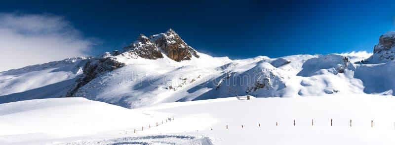 La Plagne - Alpien landschap royalty-vrije stock afbeelding