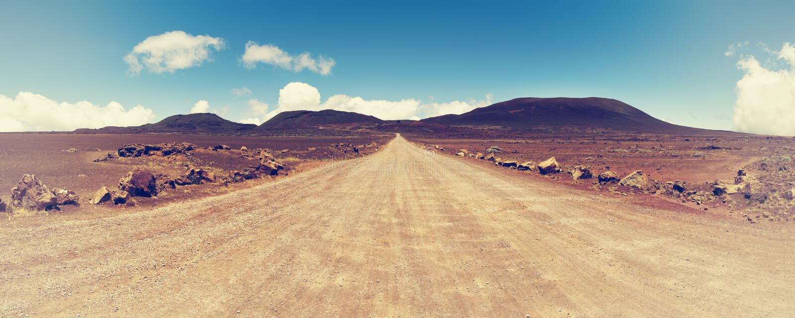 Vanishing volcan o roadon reunion island, indian ocean. royalty free stock photo