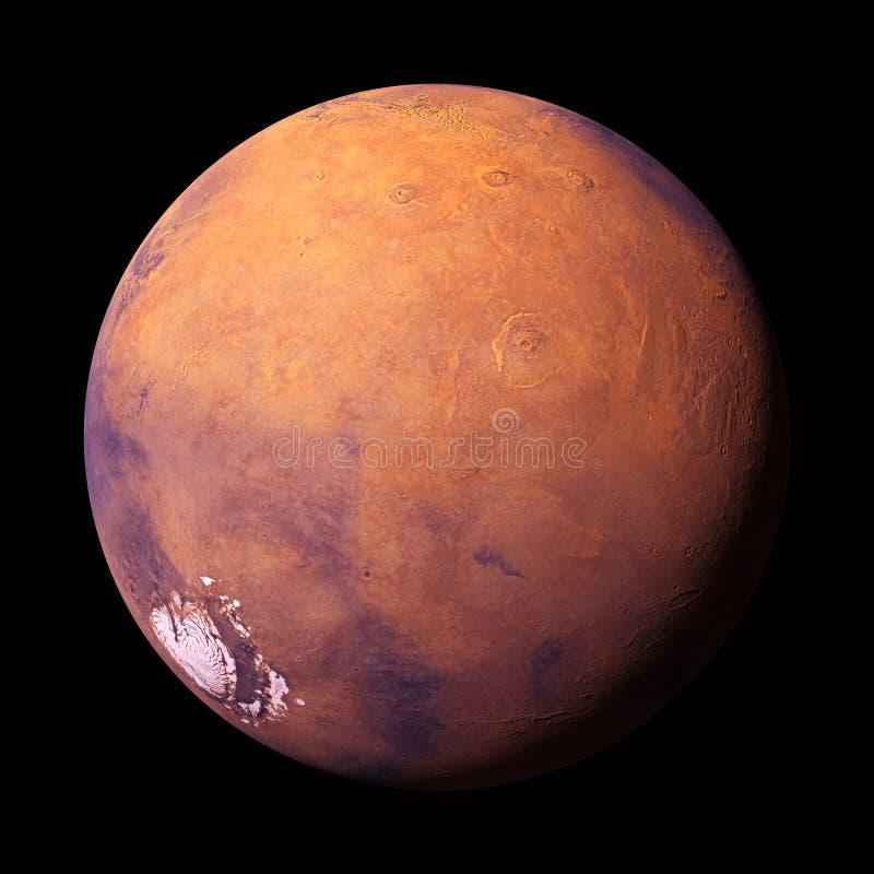 La planète Mars, d'isolement sur le fond noir, des éléments de cette image sont fournies par la NASA illustration stock