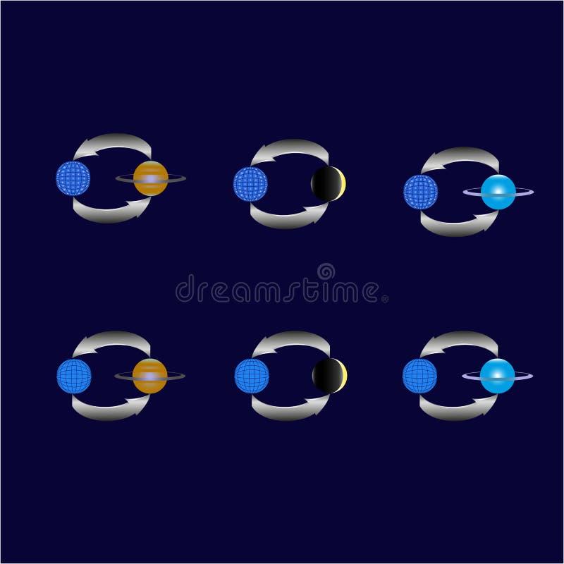 La planète sur un fond bleu photos stock