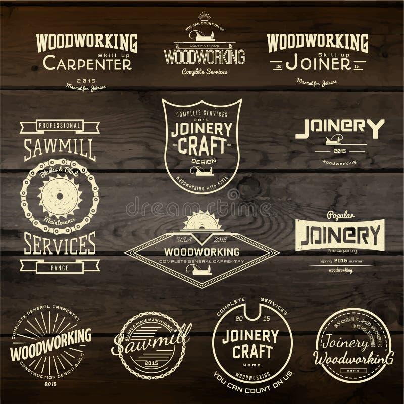 La planche à roulettes badges des logos et des labels pour utilisation illustration libre de droits