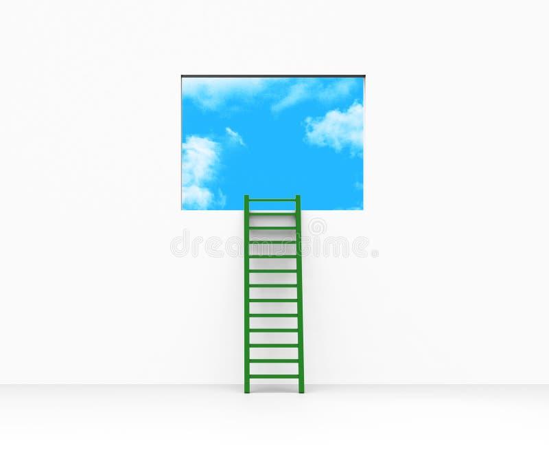 La planification de vision représente l'étape et l'échelle d'échelles illustration stock
