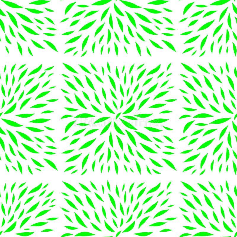 La planta deja el modelo bajo la forma de tejas ilustración del vector
