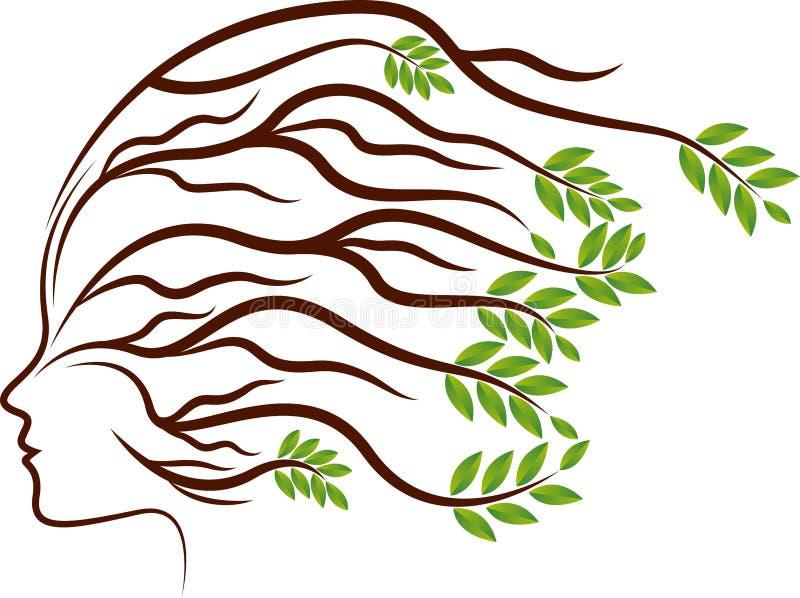 La planta principal arraiga el logotipo stock de ilustración