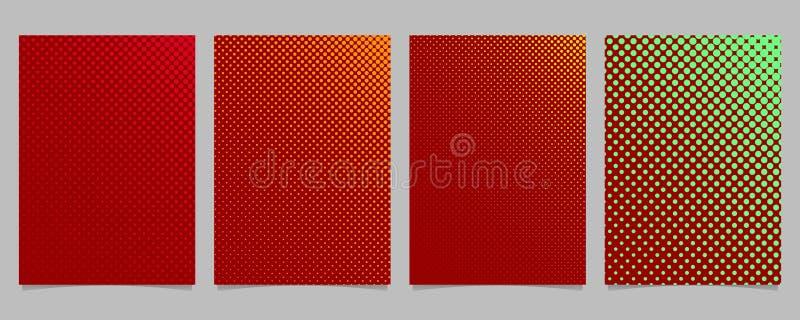 La plantilla de la cubierta de semitono del modelo de punto del color abstracto fijó - vector el ejemplo del fondo de los efectos stock de ilustración