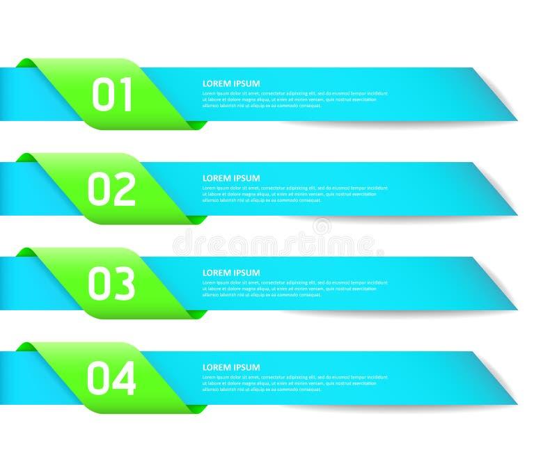 La plantilla de las opciones del estilo del diseño moderno/puede ser utilizada ilustración del vector