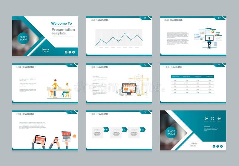 La plantilla del diseño para la presentación del negocio con los elementos infographic diseña ilustración del vector