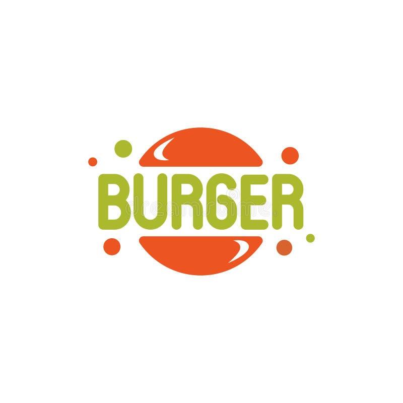 La plantilla del logotipo de la burbuja de la hamburguesa, historieta estilizó el logotipo del vector libre illustration