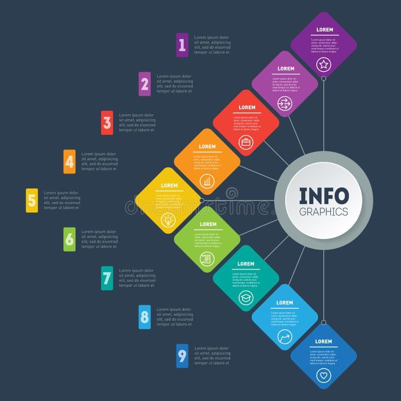 La plantilla del web del las ventas canaliza, embudo de la compra, carta de la información o libre illustration