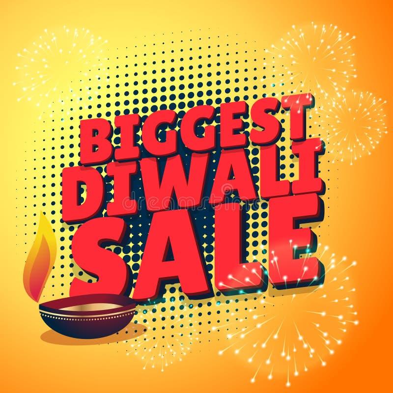 La plantilla más grande de la presentación de la oferta del descuento de la venta del diwali stock de ilustración