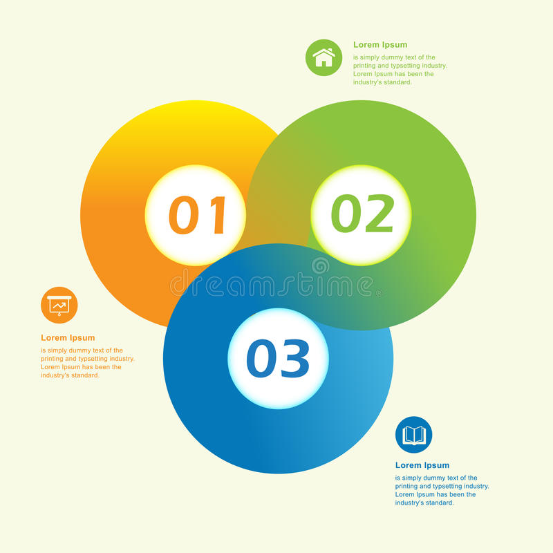 Plantilla infographic del diseño del círculo moderno libre illustration
