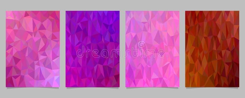 La plantilla tejada abstracta geométrica de la página del mosaico del triángulo fijó - vector los gráficos del fondo del aviador  ilustración del vector