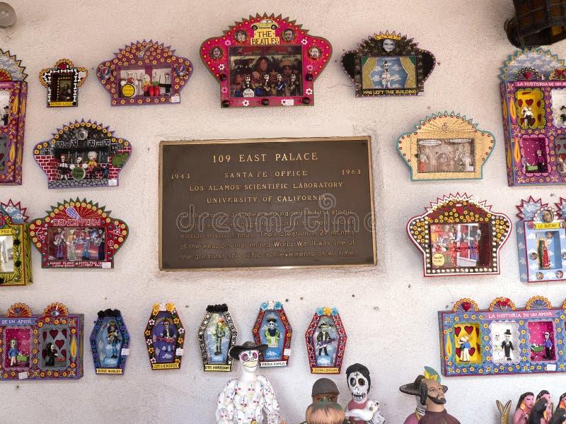 La plaque en Santa Fe au Nouveau Mexique s'est reliée au développement de bombe atomique photographie stock